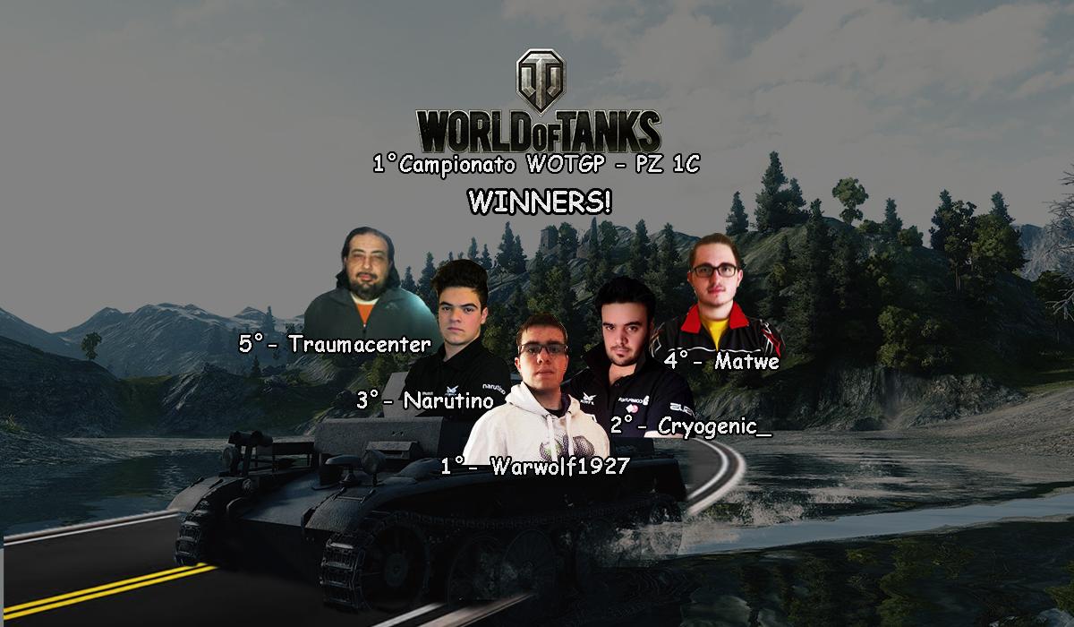 1° Campionato di WOTGP - IL Podio
